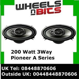 "Pioneer TS A4613I 4"" x 6"" 3 Way Coaxial Car Speakers 200Watt VW Skoda Audi Seat"