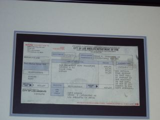 Nirvana Kurt Cobain Original Ambulance Bill from 1992 Dave Grohl Foo Fighters