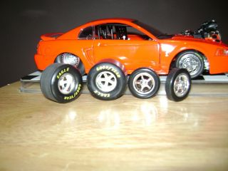 1 24 Scale Weld Alumnastar Rims Tires Slicks NHRA Pro Street Hot Rod Custom