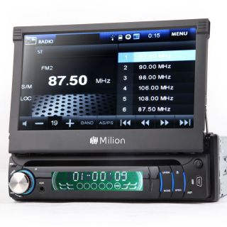 "7"" 1 DIN in Dash Car DVD Player FM Radio Stereo iPod iPhone Bluetooth Touch"