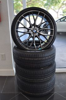 "BMW M Performance Double Spoke 405M 20"" Lightweight Forged Wheels and Tires"