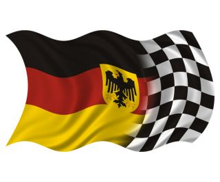Germany Racing Flag Decal Eagle German Vinyl Race Car Sticker HGV