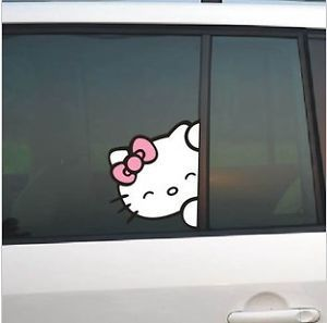 Hello Kitty Car Decals Stickers Auto Decal Car Decals for All Cars White Pink