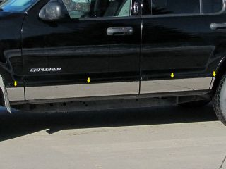 2002 2007 Ford Explorer 8PC SS Rocker Panel Molding