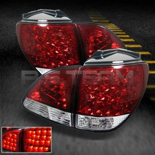 01 03 Lexus RX300 Sport SUV JDM Red Clear 4pcs LED Tail Lights w Trunk Piece
