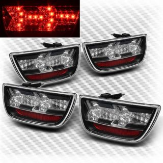 2010 2013 Chevy Camaro 4pcs LED Tail Lights Lamps Rear Brake Pair Left Right Set