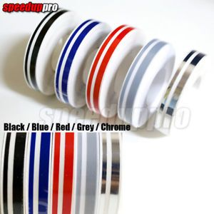 12mm Pin Stripe Tape Streamline Car Decals Stickers Blue Red Grey Chrome Black