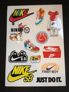 12 Nike Skateboard Longboard Vintage Vinyl Sticker Laptop Luggage Car Decals
