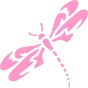 "Dragonfly Vinyl Car Decals Graphics 5"" x 5"" Left"