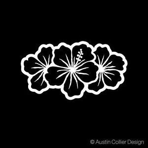 Hibiscus Flowers Vinyl Decal Car Sticker Island Girl