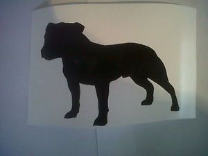 STAFFY L Dog Decal Wall Vinyl Car Decals iPad Stickers