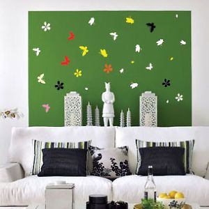 Flower Butterfly Wall Decals