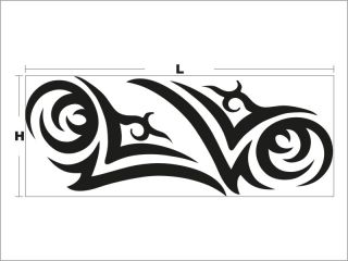 N3007 Tribal Tattoo Removable Car Art Sticker Vinyl Graphics Decal for BMW Ford