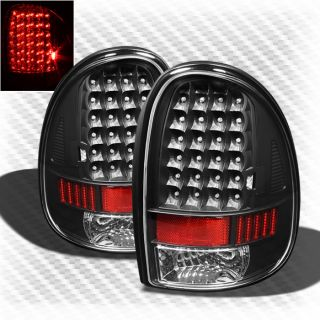 96 00 Dodge Caravan 98 03 Durango Black LED Tail Lights Lamp Pair Brand New Set