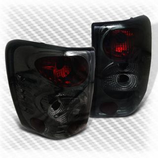 Smoked 99 04 Jeep Grand Cherokee Tail Lights Rear Smoke Brake Lamp Pair New Set