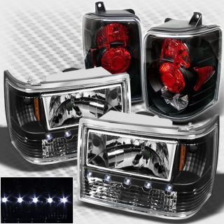 93 98 Jeep Grand Cherokee LED Headlights Tail Lights Lamp New Replacement Set
