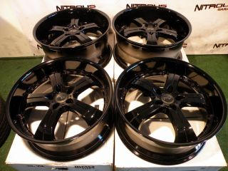"22"" MRR GT4 Wheels Gloss Black BMW 6 7 Series 645CI 650i M6 745i 745LI 750i GT 4"