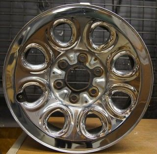 "Chevy Silverado GMC Sierra 17"" Chrome Steel Factory Wheel Rim 05 11 5223 8"