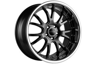 "20"" Nissan Maxima Stance ST1 Black Staggered Wheels Rims"