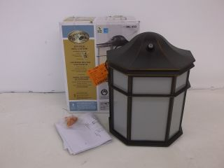 Hampton Bay Wall Mount Outdoor Exterior Bronze Dusk to Dawn Lantern 395250