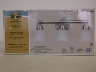 Hampton Bay Brushed Nickel 3 Light Bath Sconce Vanity Fixture Light 469486