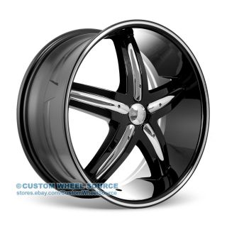 "20"" Dcenti DW9 Black Rims for Infinity Jaguar Lexus Wheels"