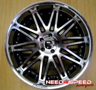 "21"" Giovanna Tropez 21x10 5 Machined Black Wheel Rim"