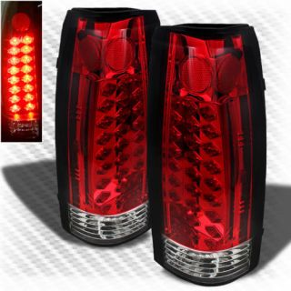 88 98 Chevy Suburban Tahoe LED Red Tail Lights Rear Lamp New Left Right Set Pair