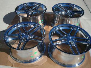 "17x9 5 18x10 5"" Chrome C6 Z06 Style Corvette Wheels Rims for C5 C4"