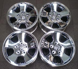 "2266 Dodge RAM 1500 17"" Factory Chrome Clad Wheels Rims"