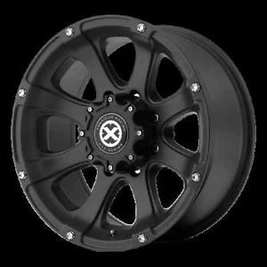 15 inch 15x7 Teflon Black Ledge Wheels 5 Lug Ford Ranger Jeep Wrangler 5x4 5 Rim