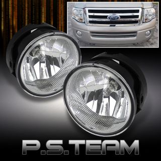 07 11 Ford Expedition 08 11 Ranger Clear Bumper Fog Lights Lamps Left Right Pair