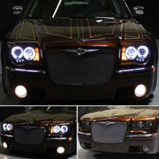 LED Bumper Fog CCFL Halo 05 10 Chrysler 300C LED Projector Headlights Head Light