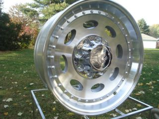 19.5 X 7.50 VISION ALUMINUM SINGLES DODGE CHEVY FORD WHEELS 8 LUG
