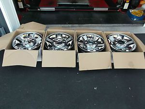 Ford Wheels 18 inch 2008 2009 2010 F250 F350 Factory Chrome Clad Wheels
