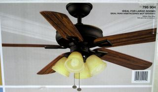 Hampton Bay Lyndhurst 52 in Indoor Oil Rubbed Bronze Ceiling Fan 795904