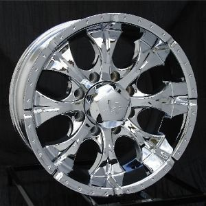 17 inch Chrome Wheels Rims Chevy GMC Dodge 2500 3500 8 Lug Trucks Hummer H2 Helo
