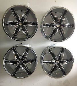 "Set 4 20"" Helo 866 Chrome Wheels 6 Lug Chevy Trucks 6x5 5 6x5 Tahoe Trailblazer"