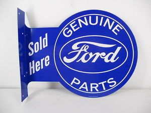 Ford Parts Car Lot Garage Gas Shop Station Oval Logo Vintage Style Flange Sign