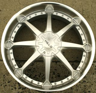 Helo 871 24 x 9 5 Silver Rims Wheels Ford F150 F 150 04 Up 6H 38