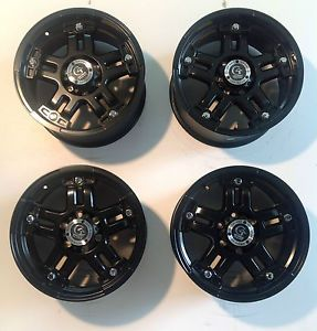 "Set 4 18x9 18"" Granite Alloy Black 6x135 6 Lug Truck Ford F150 Expedition Wheels"