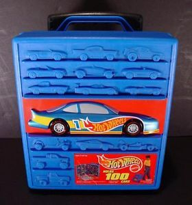Vintage Hot Wheels Storage Car Case with Wheels Holds 100 Cars
