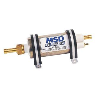 New MSD 2225 in Line Hi Pressure 43 GPH Fuel Management Pump Hot Rod Muscle Car