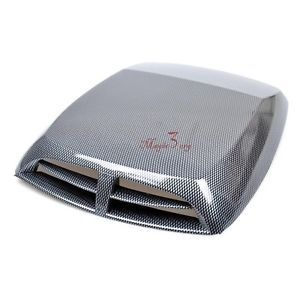 Unique Stylized Black Grey Hood Scoop Trucks Cars Roof ABS Front Universal KREH1