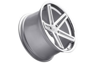 "20"" Nissan Maxima Concept One CS55 Concave Silver Staggered Wheels Rims"