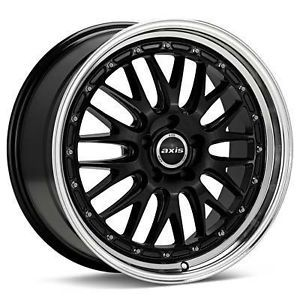 "18"" Axis Rev Style Black Wheels Rims Staggered Fit Lexus IS250 IS300 is350 Is F"