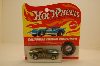 Hot Wheels Redline Toned Yellow Olive Bye Focal BP Blisterpack