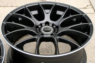 "Bremmer Kraft BRO5 19"" Black Rims Wheels Nissan 350Z Staggered 19 x 8 19 x 9"