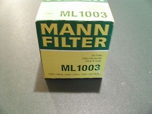 Mann Filter ml 1003 Automotive Car Truck Oil Filter Amsoil