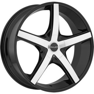 20x8 5 Machined Black Wheel Akuza Axis 848 5x115 5x120